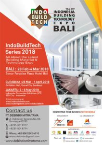The 9th IndoBuildTech Bali 2018 @ Sanur Paradise Hotel, Bandung
